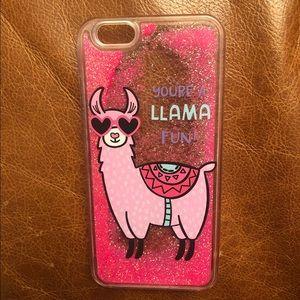 Glitter llama iPhone 6/6s case 🦙